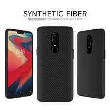 For OnePlus 6 Nillkin Synthetic Carbon Fiber Matte Simple Back Phone Case Cover