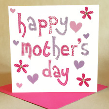 Mother's Day Card, Jewelled Mother's Day Text card for woman