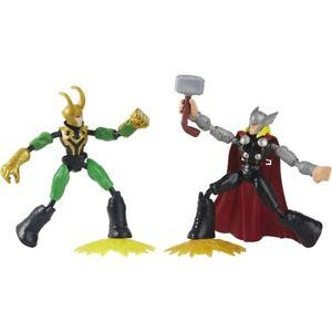 Hasbro Marvel Avengers Bend and Flex Thor Vs. Loki Action Figures Brand New