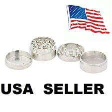 Silver Mini 4 Layers Metal Tobacco Crusher Hand Muller Smoke Herbal Herb Grinder