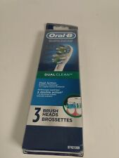 Oral B dual clean 3 brush heads New sealed