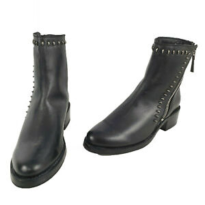RRP $500+ Frye Women's Black Leather Ankle Boots Zip Sider Size US 6B BO48