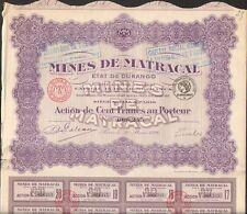 Mines de MATRACAL (DURANGO MEXIQUE) (S)