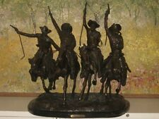 Coming Thru The Rye Remington Bronze Statue - Reproduction