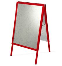 A1 RED A-BOARD PAVEMENT SIGN POSTER SNAP FRAME DOUBLE SIDE SIGN DISPLAY STANDS