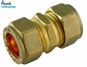 8mm,10mm, 12mm, 28mm, 35mm, 42mm, 54mm Compression Straight Coupling Brass