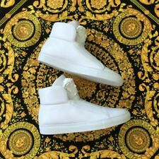 VERSACE Mens White Leather Medusa High Top Sneakers EU39 SUPER RARE BNWT