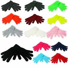 Magic Gloves Mens Women Adults Black Neon Colour Winter Warm Stretch Snow Ski UK