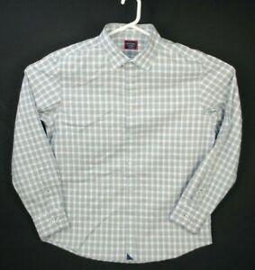 UNTUCKit Mens Check Slim Fit Wrinkle Free Button Front Casual Shirt Size XL