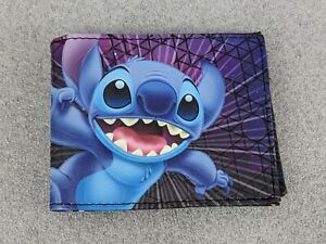 Disney Lilo Stitch Bifold Wallet Men's Graphic Print NEW 134