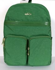 Kipling Tina Emerald Dream Patent Combo  Backpack with Laptop Protection