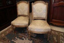Paire de chaises Louis XVI d'époque 18e début 19e en bois doré