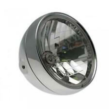 Optique feu éclairage avant moto métal chromé diamètre 200mm ampoule H4 Neuf