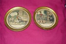 VINTAGE ESTELLE ET NEMORIN HAND COLORED LITHOGRAPH 1800'S SMALL PAIR PICTURES