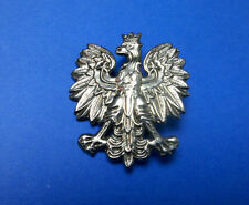 Polish beautifull White EAGLE badge eagle with Crown POLAND BADGE for hat, cap 3