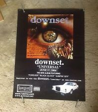 OOP! CD LP  Poster 24x18. DOWNSET music metal heavy rock. RARE