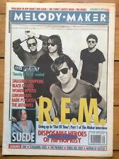 Melody Maker 26/9/92 R.E.M. cover, Jayhawks, Disposable Heroes of Hiphoprisy