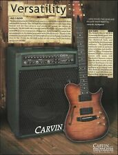 The Carvin AE185 acoustic/electric guitar AG100D amp ad 8 x 11 advertisement