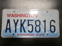 Washington (AYK5816) American License Number Plate Collecting Craft Hobby