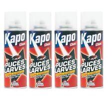 4 INSECTICIDE PUCES LARVES CHOC ANTI INFESTATION KAPO