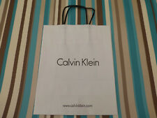 Paper gift bag Calvin Klein 25x20cm V. Small shoppers white carrier bags NO tag