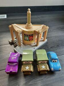 Disney Pixar Cars GeoTrax Ramone's House of Body Art With Ramone Sarge x2 Sally
