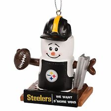 Pittsburgh Steelers Smores Christmas Tree Ornament - We Want Smore Wins Thematic