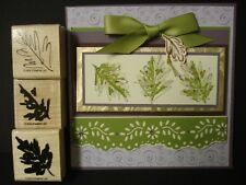 Stampin Up rubber stamp  - Set of 3 layering OAK LEAVES STAMPS  - So STUNNING