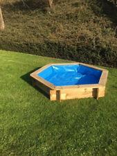 1 Teichfolie +1 Abdeckung Plane für 6eck Pool Sandkasten Planschbecken 192 cm