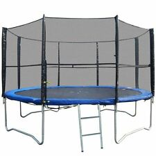 NEW 10FT REPLACEMENT 6 POLE TRAMPOLINE SAFETY NET ENCLOSURE SURROUND OUTDOOR