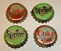 Soda pop bottle caps THIRSTY JUST WHISTLE Lot of 2 plastic lined new old stock