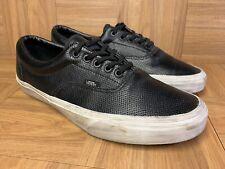 RARE🔥 VANS ERA Perforated PERF Leather Black Leather Sz 11 Men's Shoes LE