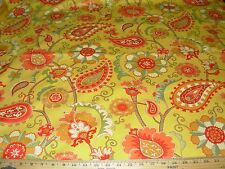 ~BTY~RICHLOOM~PAISLEY FLOWER SUZANI~ COTTON DRAPERY UPHOLSTERY FABRIC FOR LESS~