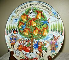 Fitz And Floyd The Twelve 12 Days Of Christmas Collector Plate w/ Box Gorgeous