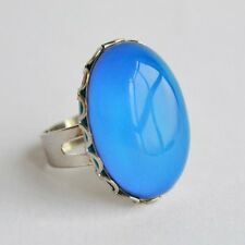 Mood Ring - Large Color Changing Stone on a Silver Brass Adjustable Ring