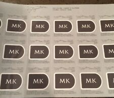 New Mary Kay STORM Signature Eye Color 2 Sheets 36 SAMPLES Like Black Cake Liner