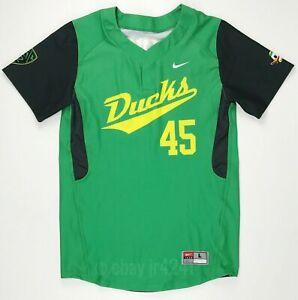 Nike Oregon Ducks Vapor 1.0 Two Button Baseball Jersey Men's L Green 632233