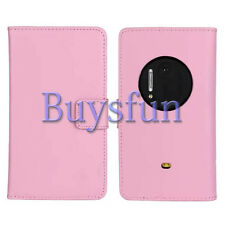 Bfun Pink Genuine Real Leather Card Slot Wallet Case Cover For Nokia Lumia 1020