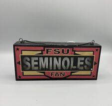 Florida State University Seminoles Wooden LED Sign