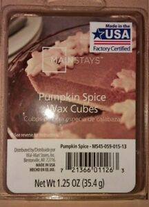 Maninstays Pumpkin Spice Scented Wax Melts 6 cubes 1.25 oz