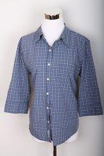 Abercrombie & Fitch Blue Plaid Button Down Long Sleeve Womens Shirt Size L