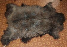Art floor decor goatskin rug natural skin carpet Dog bed 100*80cm Long fur