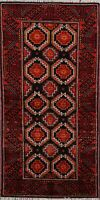 Traditional Hand-Made Balouch Geometric Area Rug Tribal Wool Oriental Carpet 3x6