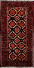 Traditional Hand-Made Balouch Geometric Area Rug Tribal Wool Oriental Carpet 3x6