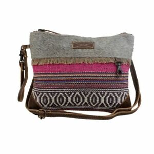 Myra Bag Laced Cotton Rug & Hair-On Crossbody Bag