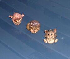 3 DISNEY LE HARMONY KINGDOM ROLY POLY CATS: CHESHIRE, LUCIFER, FIGARO