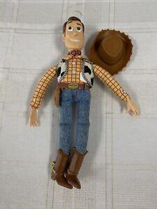 "Vintage Woody 16"" Doll Figure Pull String Talking Phrases Toy Story Disney Pixar"