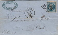 Lettre/Cover France 20c Empire Mulhouse Frontalier >> Suisse