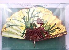 New Metropolitan Museum Of Art NYC Folding Fan Ornament Golden Blossoms Oriental