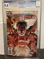 Superman #209 CGC 9.8. Jim Lee Brian Azzarello First Print White Pages!!